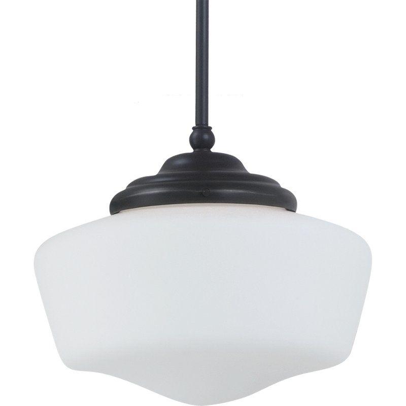 """Sea Gull Lighting 65438 Academy 1 Light 13"""" Diameter Full Sized"""