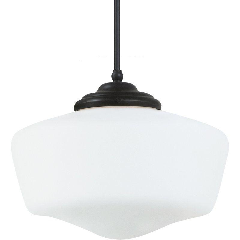 """Sea Gull Lighting 65439 Academy 1 Light 17"""" Diameter Full Sized"""