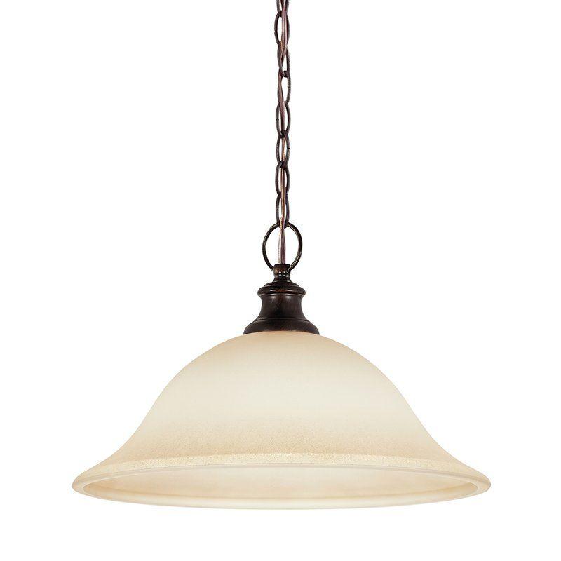 Sea Gull Lighting 65496 Park west 1 Light Full Sized Pendant Burnt