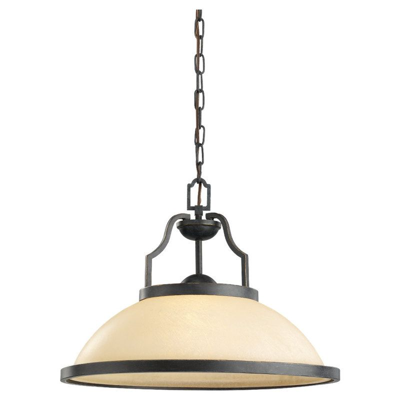 Sea Gull Lighting 65520 Roslyn 1 Light Full Sized Pendant Flemish