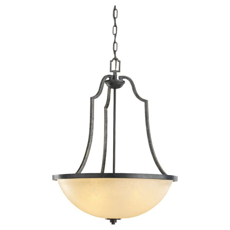 Sea Gull Lighting 65521 Roslyn 3 Light Bowl Shaped Pendant Flemish
