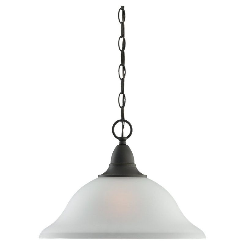 Sea Gull Lighting 65575 Albany 1 Light Full Sized Pendant Heirloom