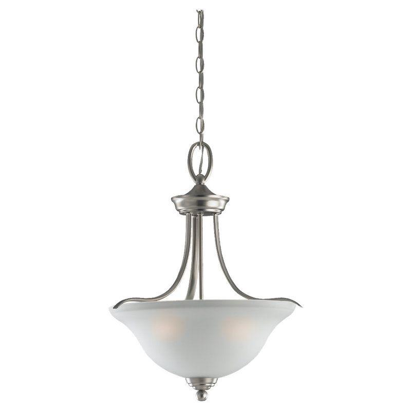Sea Gull Lighting 65626 Wheaton 3 Light Bowl Shaped Pendant Brushed Sale $181.40 ITEM: bci1210134 ID#:65626-962 UPC: 785652656224 :