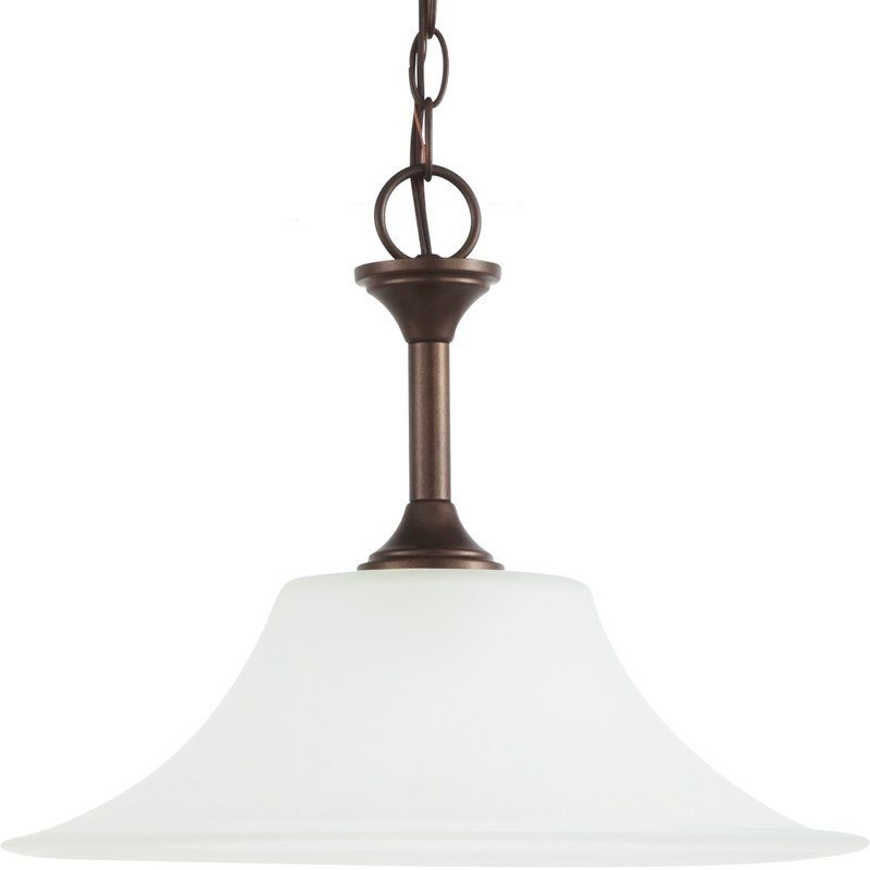 Sea Gull Lighting 65806 Holman 1 Light Full Sized Pendant Bell Metal