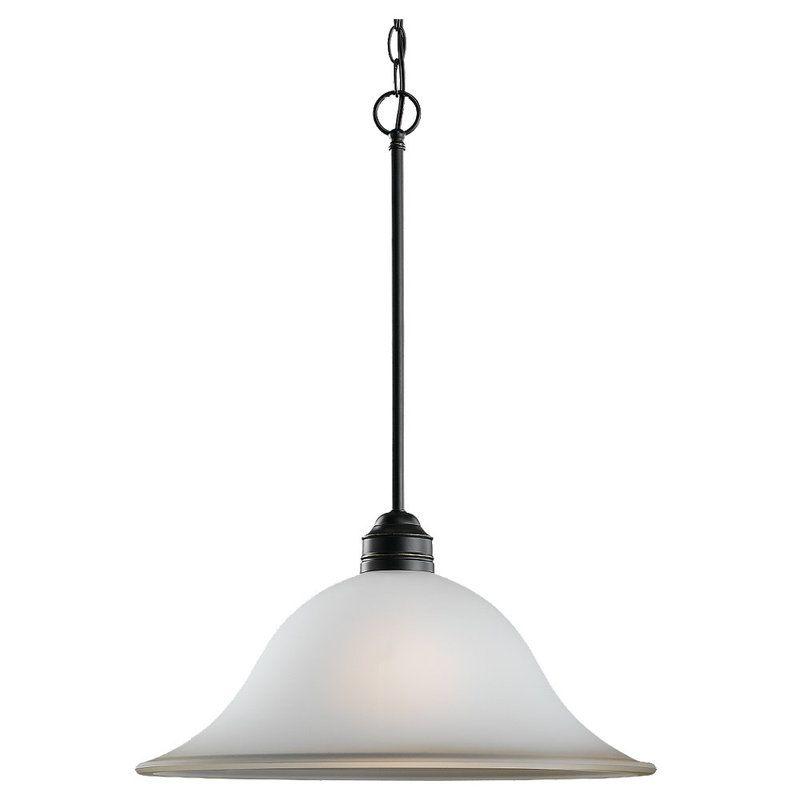 Sea Gull Lighting 65850 Gladstone 1 Light Bowl Shaped Pendant Heirloom