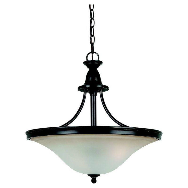 Sea Gull Lighting 65851 Gladstone 3 Light Bowl Shaped Pendant Heirloom