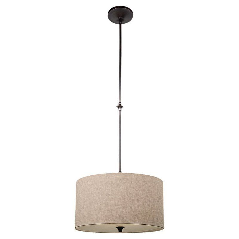 Sea Gull Lighting 65952 Stirling 1 Light Drum Pendant Burnt Sienna