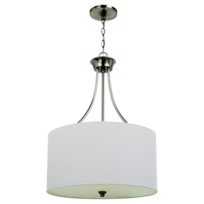 Sea Gull Lighting 65953 Stirling 3 Light Drum Pendant Brushed Nickel Sale $258.30 ITEM: bci1686613 ID#:65953-962 UPC: 785652027437 :