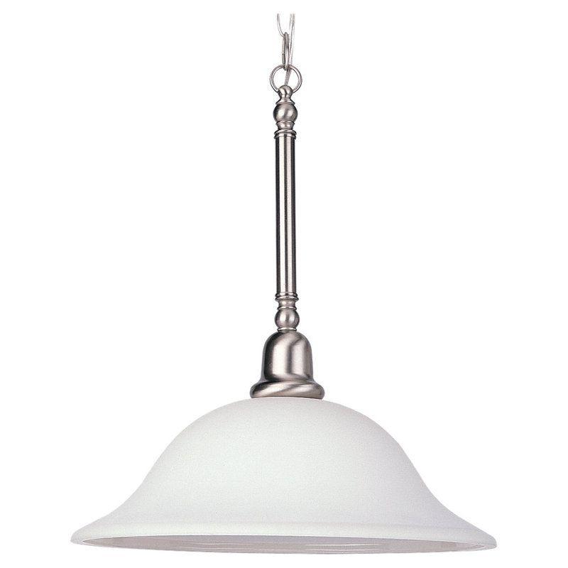 Sea Gull Lighting 66060 Sussex 1 Light Full Sized Pendant Brushed