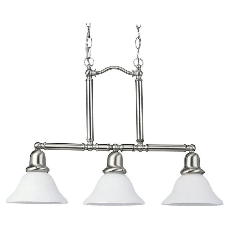 Sea Gull Lighting 66061 Sussex 3 Light Single Tier Linear Chandelier Sale $241.90 ITEM: bci269869 ID#:66061-962 UPC: 785652660610 :