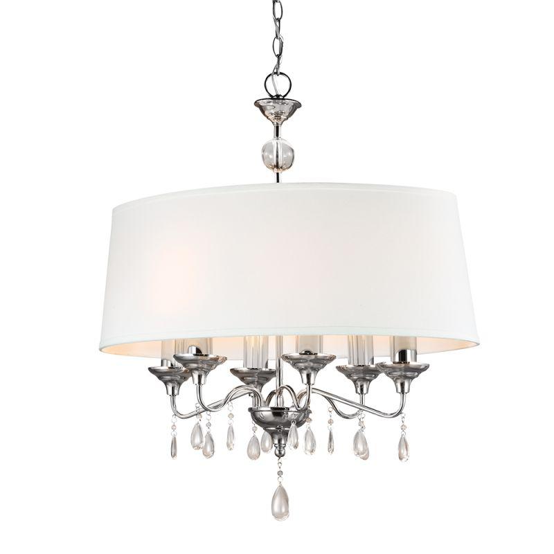 Sea Gull Lighting 6610506 West Town 6 Light Full Sized Pendant Chrome