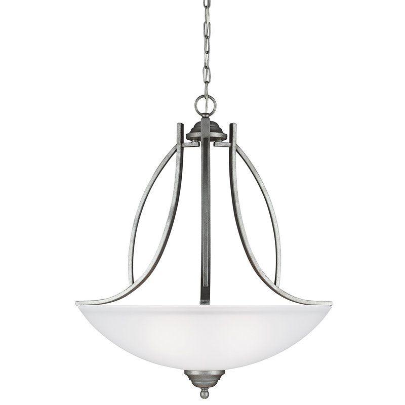 Sea Gull Lighting 6631403 Vitelli 3 Light Bowl Shaped Pendant