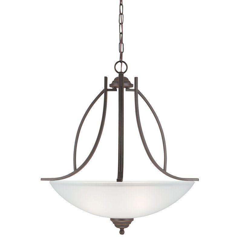 Sea Gull Lighting 6631403 Vitelli 3 Light Bowl Shaped Pendant Autumn
