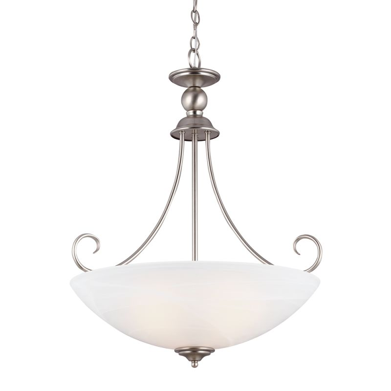Sea Gull Lighting 66316 Lemont 3 Light Full Sized Pendant Antique