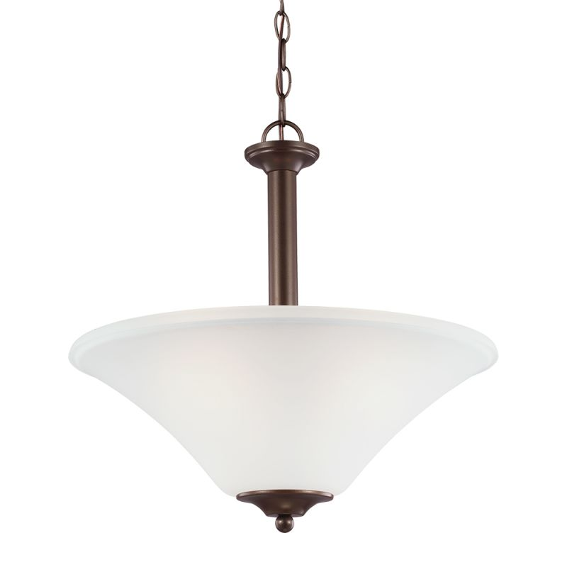 Sea Gull Lighting 66808 Holman 3 Light Full Sized Pendant Bell Metal