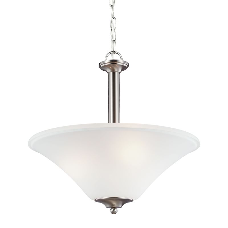 Sea Gull Lighting 66808 Holman 3 Light Full Sized Pendant Brushed
