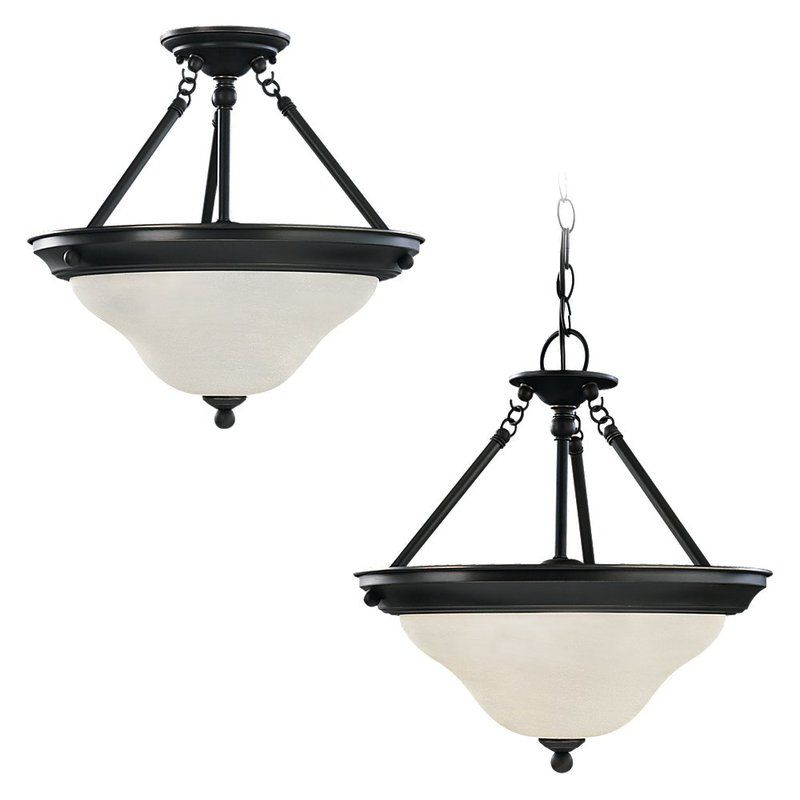 Sea Gull Lighting 69562BLE Sussex 3 Light Outdoor Bowl Shaped Pendant