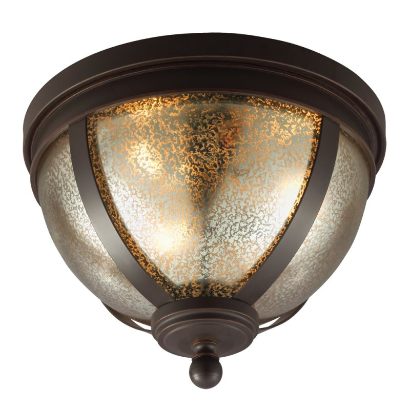 Sea Gull Lighting 7510403 Sfera 3 Light Flush Mount Ceiling Fixture