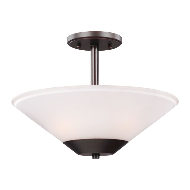 Sea Gull Lighting 7711202 Ashburne 2 Light Full Sized Pendant Burnt