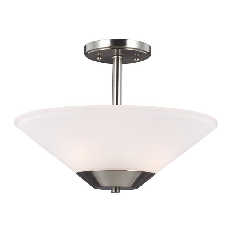Sea Gull Lighting 7711202 Ashburne 2 Light Full Sized Pendant Brushed