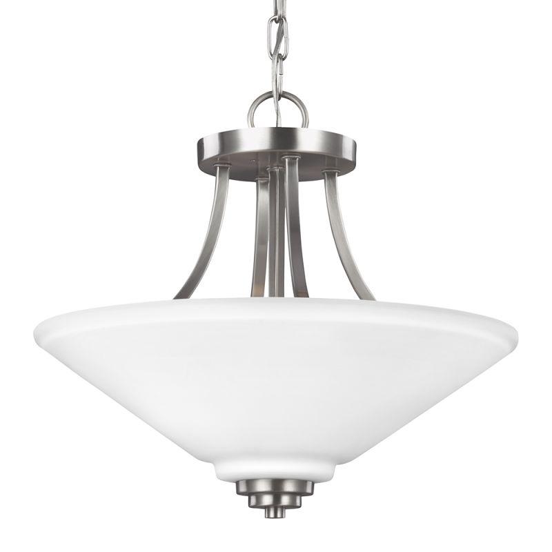 Sea Gull Lighting 7713002 Parkfield 2 Light Full Sized Pendant Brushed Sale $158.00 ITEM: bci2666081 ID#:7713002-962 UPC: 785652274916 :