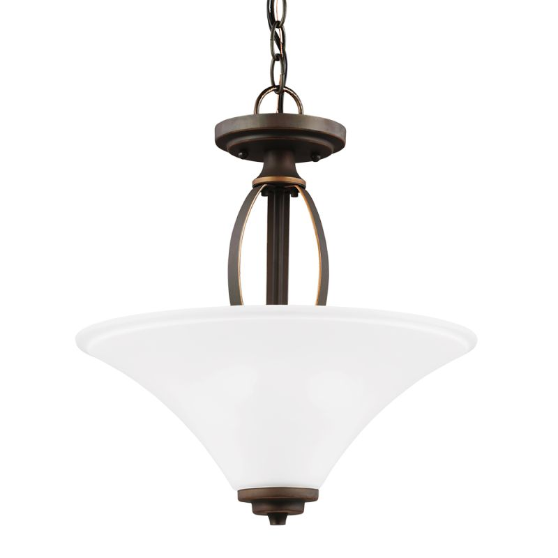 Sea Gull Lighting 7713202 Metcalf 2 Light Full Sized Pendant Autumn