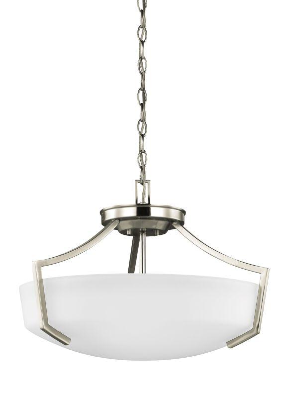 Sea Gull Lighting 7724503 Hanford Convertible 3 Semi-Flush Ceiling