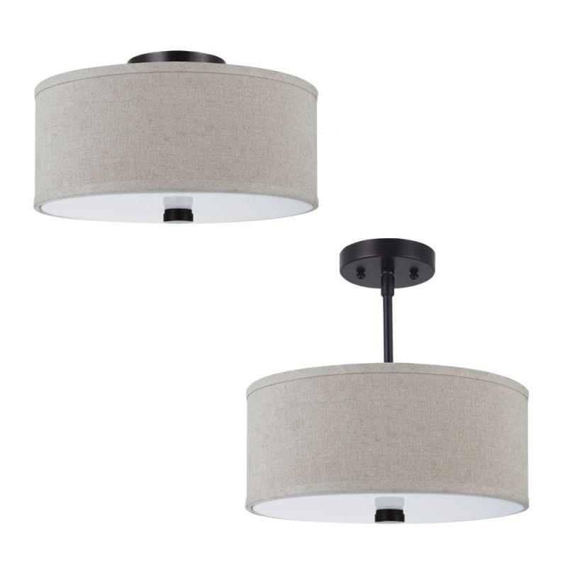 Sea Gull Lighting 77262 Dayna Shade Pendants Convertible 2 Light Flush
