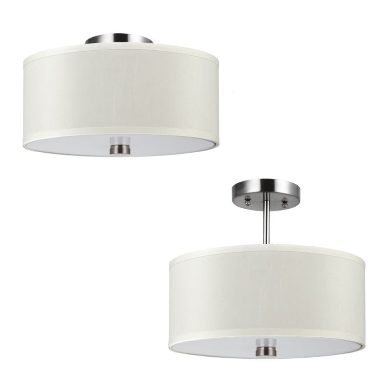 Sea Gull Lighting 77262BLE Dayna Shade Pendants Convertible 2 Light