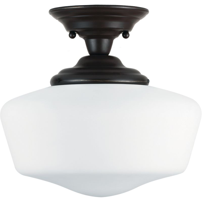 Sea Gull Lighting 77437BLE Academy 1 Light Energy Star Semi-Flush