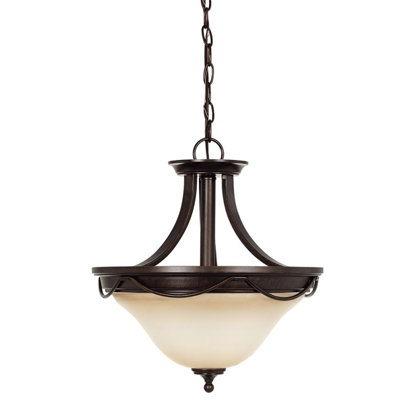 Sea Gull Lighting 77497 Park West 2 Light Semi-Flush Ceiling Fixture