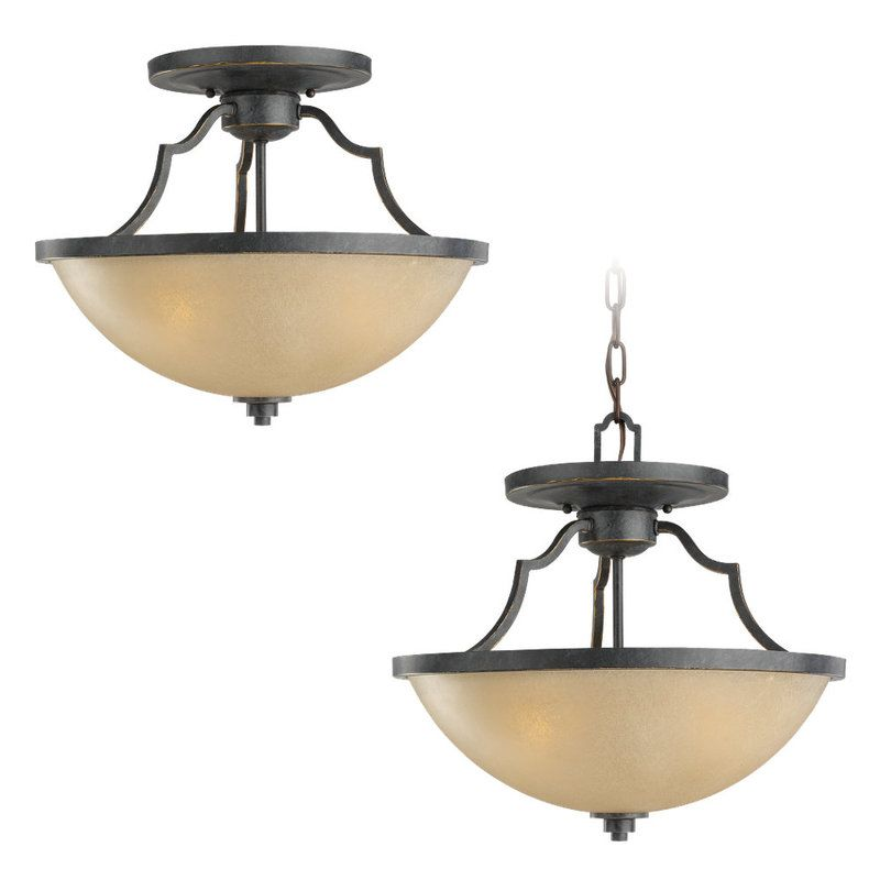 Sea Gull Lighting 77520 Roslyn 3 Light Bowl Shaped Pendant Flemish