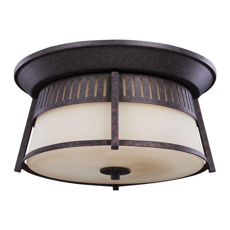 Sea Gull Lighting 7811703 Hamilton Heights 3 Light Outdoor Flush Mount