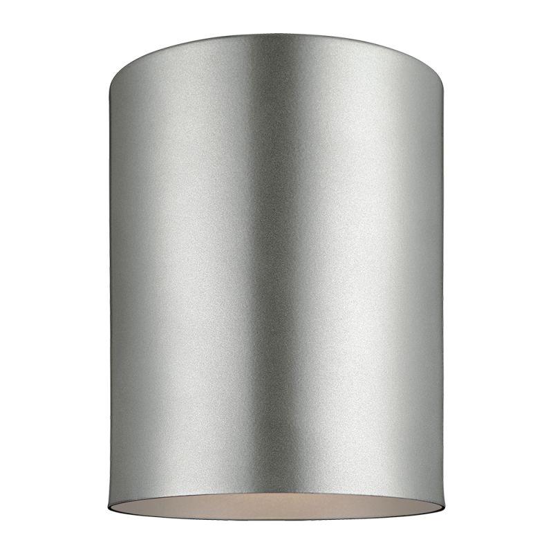 """Sea Gull Lighting 7813901 Outdoor Bullets 1 Light 6"""" Diameter Flush"""