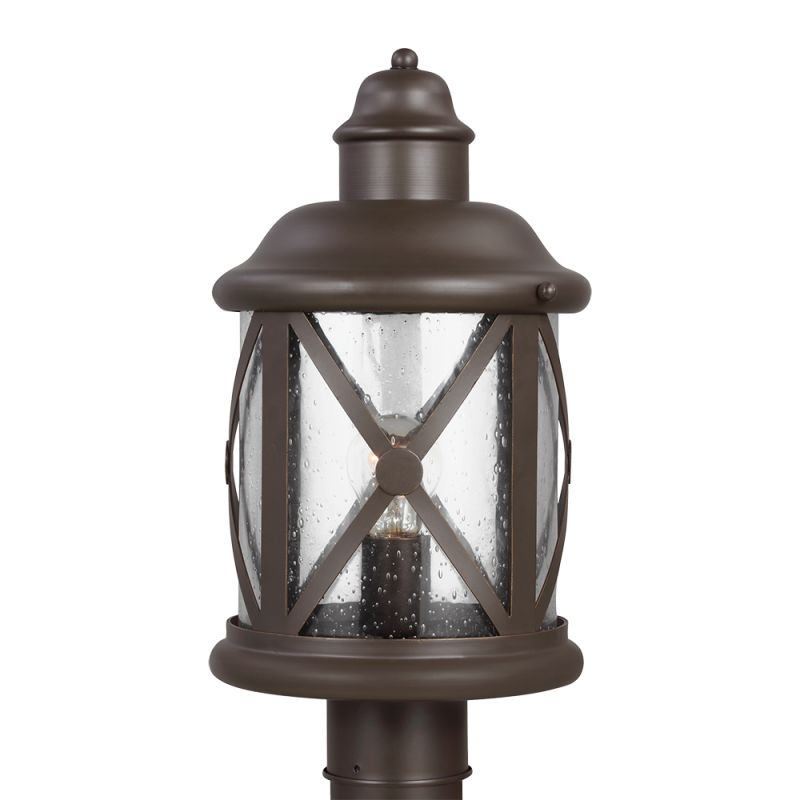 Sea Gull Lighting 8221401 Lakeview 1 Light Outdoor Post Light Antique Sale $198.00 ITEM: bci2666156 ID#:8221401-71 UPC: 785652273445 :