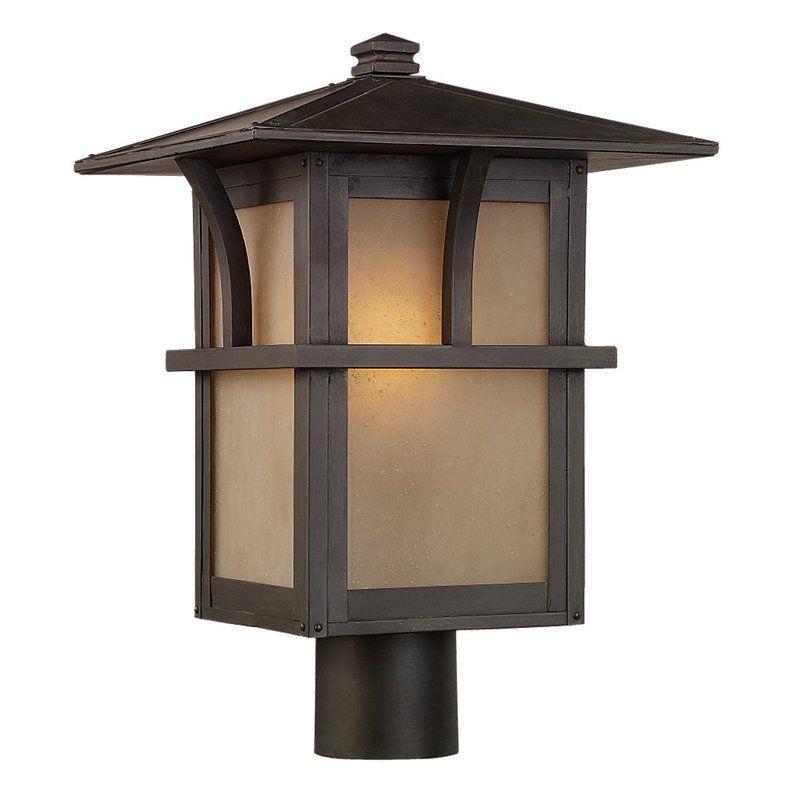 Sea Gull Lighting 82880BL Medford Lakes 1 Light Outdoor Lantern Post