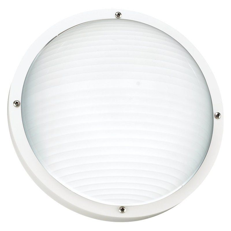 Sea Gull Lighting 83057 Bayside 1 Light Outdoor Flush Mount Ceiling or Sale $52.60 ITEM: bci2446934 ID#:83057-15 UPC: 785652184901 :