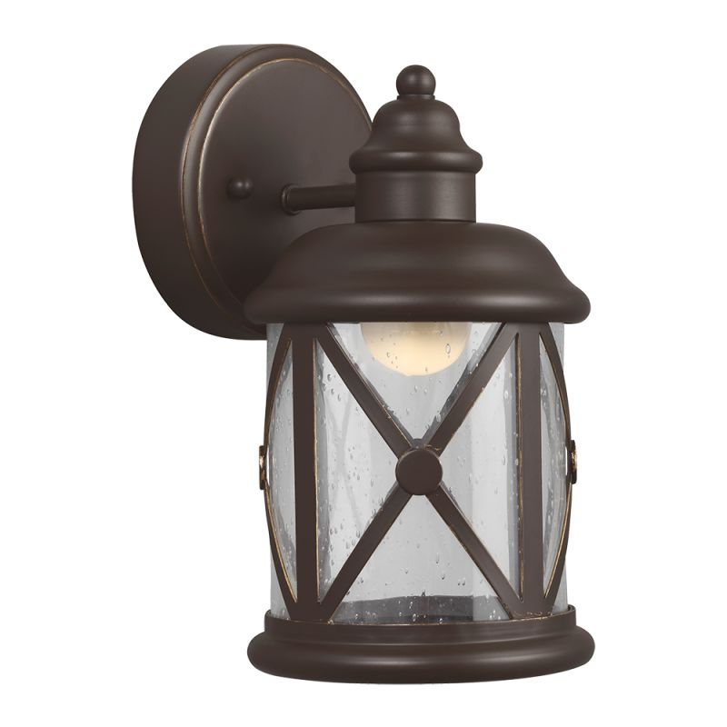 "Sea Gull Lighting 8521492S Lakeview LED 5.5"" Wide Outdoor Lantern Wall"