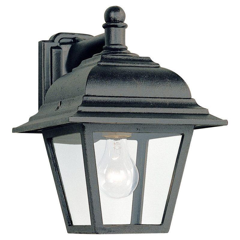 Landscape Lighting Home Depot: Sea Gull Lighting 8816-12 Black Bancroft 1 Light Outdoor