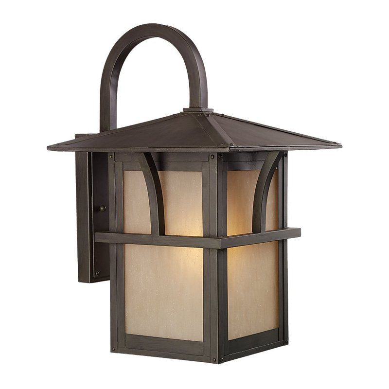 Sea Gull Lighting 88882BLE Medford Lakes 1 Light Outdoor Lantern Wall