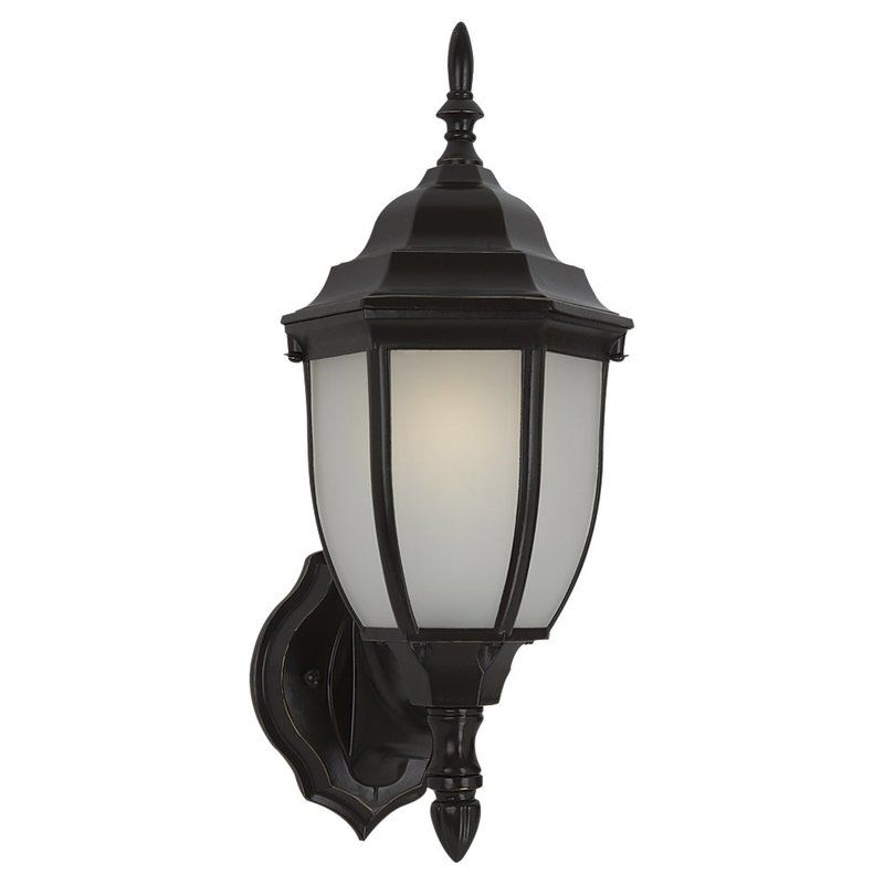 Sea Gull Lighting 88940BL Bakersville 1 Light Outdoor Lantern Wall