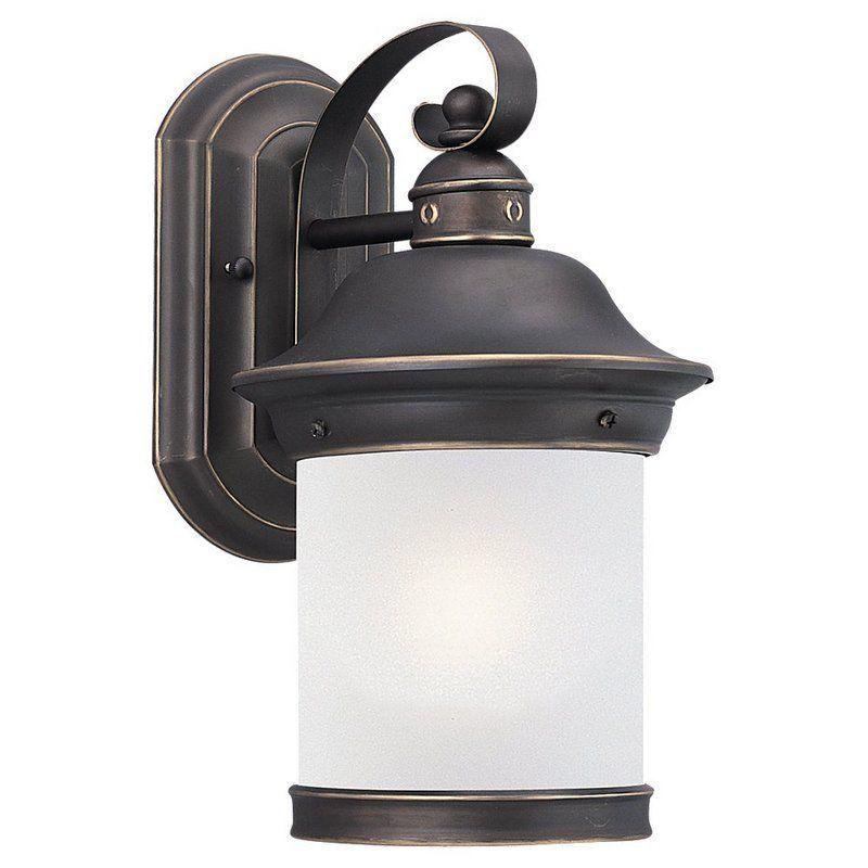 Sea Gull Lighting 89181BLE Hermitage 1 Light Outdoor Lantern Wall