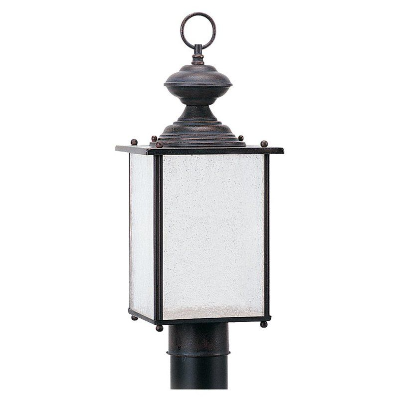 Sea Gull Lighting 89386BL Jamestowne 1 Light Outdoor Lantern Post