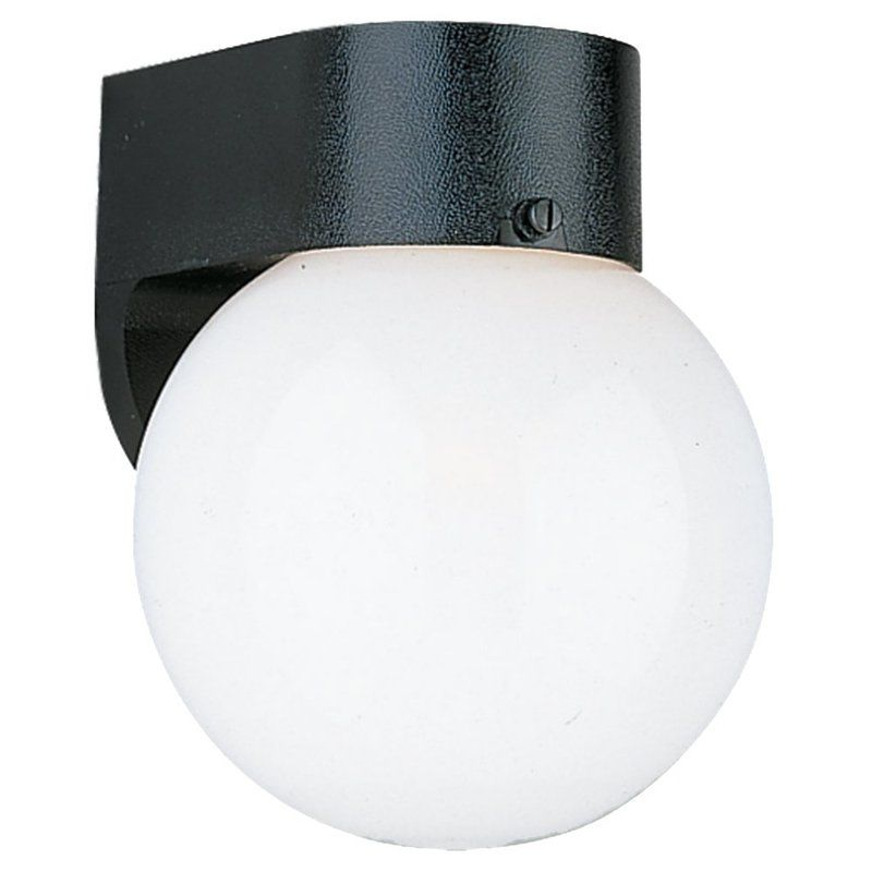 Sea Gull Lighting 8955BLE Outdoor Wall 1 Light Wall Sconce Black
