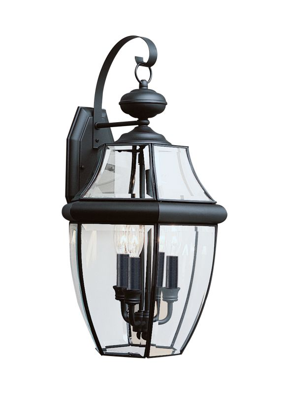 Sea Gull Lighting 8040 Lancaster 3 Light Outdoor Lantern Wall Sconce
