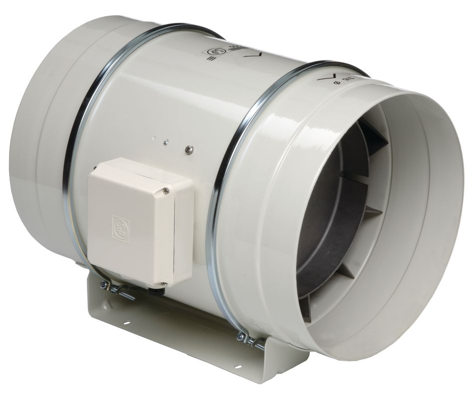 """Soler and Palau TD-250 10""""/250MM Inline Mixed Flow Duct Fan Off-White"""