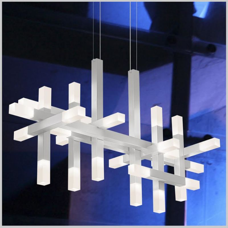 Sonneman 2133 Connetix 26 Light LED Pendant with Frosted Shade Bright