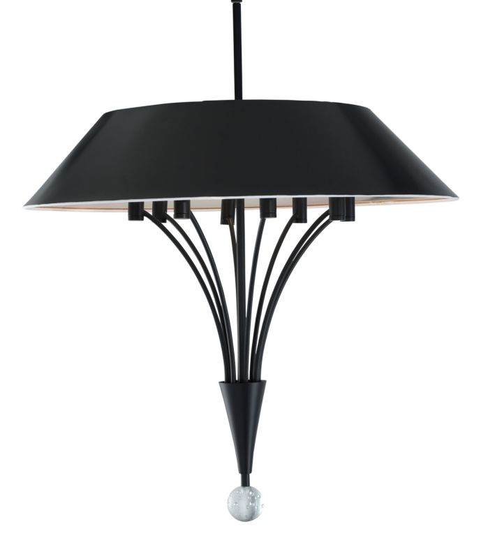 Sonneman 3195.25 Satin Black Contemporary Fontana Pendant