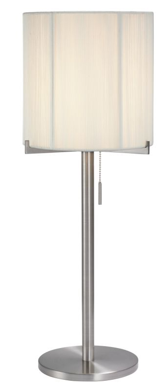 Sonneman 3349 Boxus 1 Light Table Lamp with Silk String Shade Satin