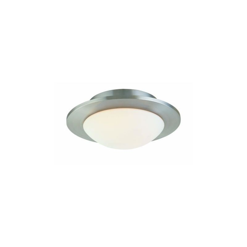 Sonneman 3712.35 Polished Nickel Contemporary Discus Ceiling Light